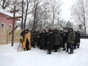 молебен перед началом строительства храма в честь святителя Николая Чудотворца